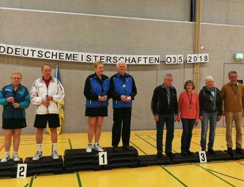 Christel Klaar und Peter Gerth wieder auf dem Podium bei der Norddeutschen Meisterschaft O35